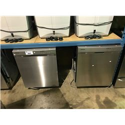 2 STAINLESS SAMSUNG DISHWASHERS (MISSING PARTS)