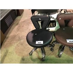 BLACK MOBILE BEAUTICIANS STOOL