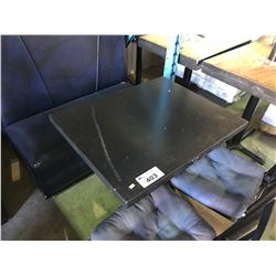BLACK SQUARE METAL BASE RESTAURANT TABLE