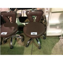 MAROON MOBILE BEAUTICIANS STOOL