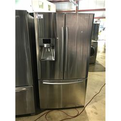 STAINLESS AND GREY SAMSUNG FRENCH DOOR FRIDGE WITH ROLL OUT FREEZER