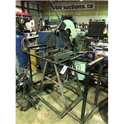 KBC MACHINERY COS-16 3 PHASE METAL CHOP SAW ON STAND