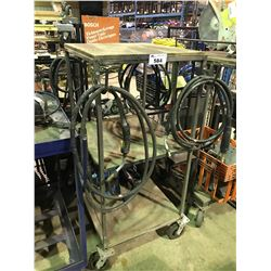 MOBILE WELDING CART WITH MILLER WIRE FEEDER AND CABLE