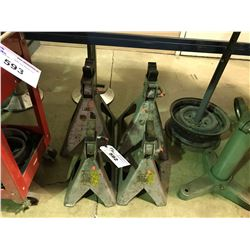4 HEAVY DUTY JACK STANDS