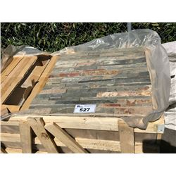 PALLET OF SCMF0624 NATURAL SLATE TEXTURED WALL TILES APROX. 240 PCS