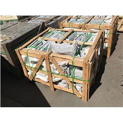 PALLET OF MARPA CRYSTAL WHITE MUSHROOM GROOVED GRANITE CORNER WALL TILES APROX. 150 PCS