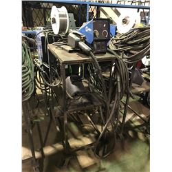 MILLER WIRE FEEDER ON MOBILE CART