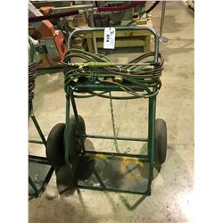 GREEN ACY/OXY  TORCH CART  WITH GAGES AND HOSES AND CUTTING TORCH HEAD