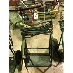 GREEN ACY/OXY  TORCH CART  WITH  HOSES AND CUTTING TORCH HEAD