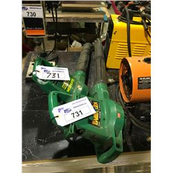 2 WEEDEATER ELECTRIC LEAF BLOWERS