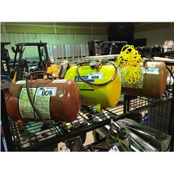 3 PORTABLE AIR TANKS WITH HOSES