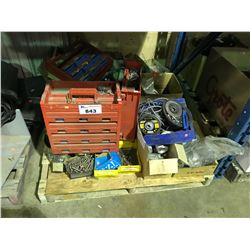 PALLET OF ASSORTED HARDWARE, NUTS, BOLTS & MORE