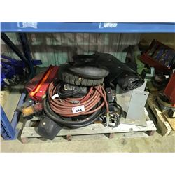 PALLET OF ASSORTED TRUCK LIGHTS, AIR HOSE, PARTS & MORE
