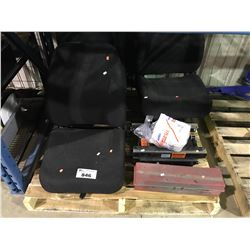 PALLET WITH ASSORTED TRUCK SEATS, PARTS & MORE