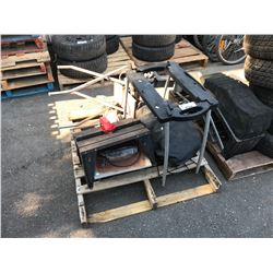 PALLET OF POWER TOOLS & WEBER BAR-B-QUE