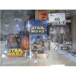 3 NEW COLLECTIBLE STAR WARS ACTION FIGURINES