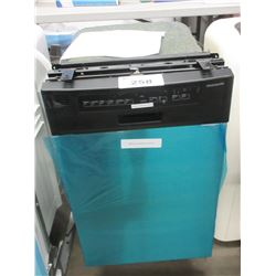NEW FRIGIDAIRE BLACK & STAINLESS APARTMENT SIZED BUILT IN WASHER