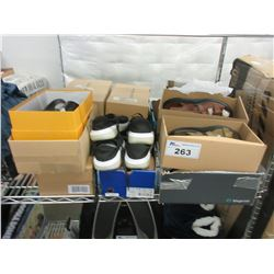 LARGE LOT OF ASSORTED SANDALS/SHOES/SLIP ONS
