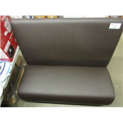NEW BROWN LEATHER RESTAURANT STYLE BENCH SEAT