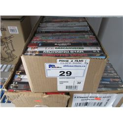 3 BOXES OF ASSORTED NEW DVDS