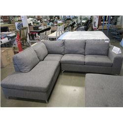 NEW 3 PIECE GREY CLOTH SECTIONAL COUCH