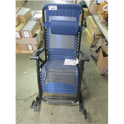 BLUE ROCKING LOUNGE CHAIR