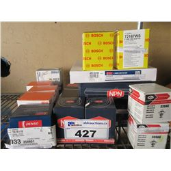LOT OF AIR FILTERS/OIL FILTERS/THERMOSTATS/ETC