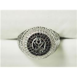 STERLING SILVER CZ MEN'S RING. APPROX RETAIL $250