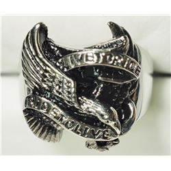 STERLING SILVER BIRD SHAPED MEN'S RING. APPROX RETAIL $100