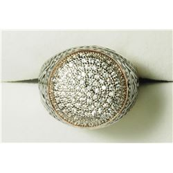 STERLING SILVER CZ MEN'S RING. APPROX RETAIL $300