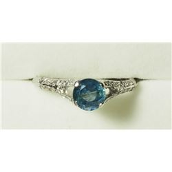 14K GOLD BLUE SAPPHIRE DIAMONDS(0.30CT) RING, MADE IN CANADA. APPRAISED VALUE $1815