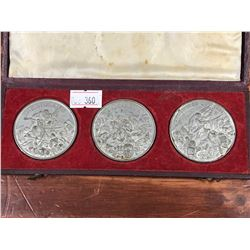 SET OF 3 CASED BRITISH EMPIRE  MEDALS CIRCA 1850
