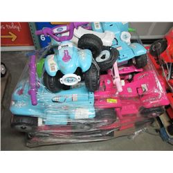 LARGE PALLET OF CHILDS RECHARGEABLE VEHICLES (FOR PARTS & REPAIR)
