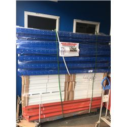 PALLET OF BRAND NEW HEAVY DUTY COMMERCIAL RACKS - 6 INDIVIDUAL SECTIONS OR 11 JOINING BAYS