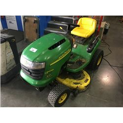 JOHN DEERE L111 AUTOMATIC RIDE ON LAWNMOWER WITH CUTTING DECK