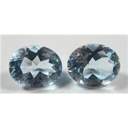 6.43 ct. Sky Blue Topaz  matched pair