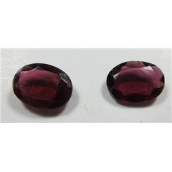 2.54 ct. Raspberry  Garnets  matched pair