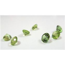 2.15 ct. Peridot Rounds  7 ea