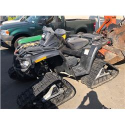 2012 CAN-AM OUTLANDER 500, ATV, BLACK, WITH TRACKS AND SPARE WHEELS, **HAS REGISTRATION**, GAS ,