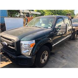 2010 FORD F350 SUPERDUTY, 4DR PICKUP, GREEN, GAS, AUTOMATIC, VIN#1FT8W3A63BEA48782, 68,326KMS, AC,