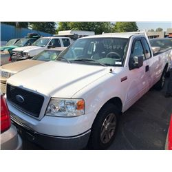 2006 FORD F150, EXTENDED CAB PICKUP, WHITE, GAS, AUTOMATIC, VIN#1FTRF12266NA18184, 114,610KMS,