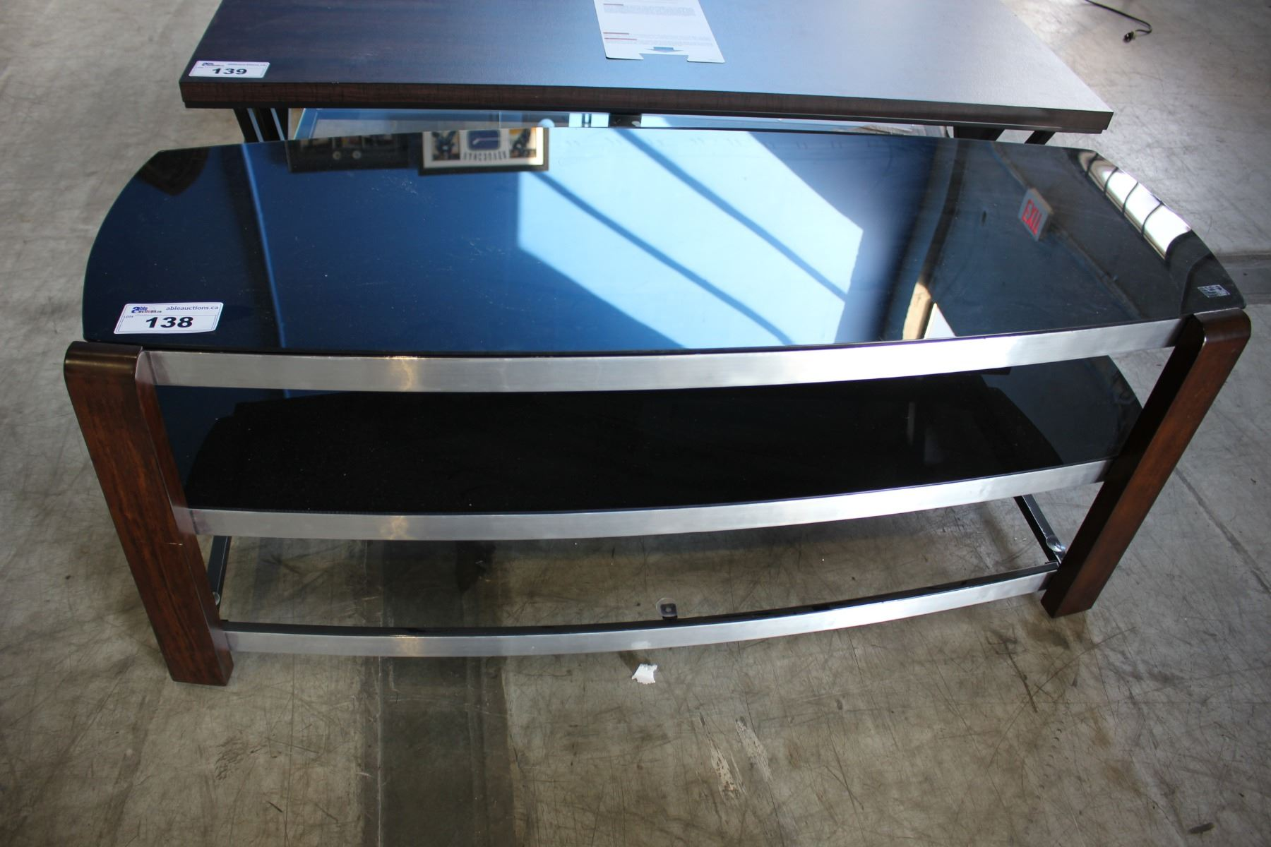 3 Tiered Glass Tv Stand Missing Bottom Glass