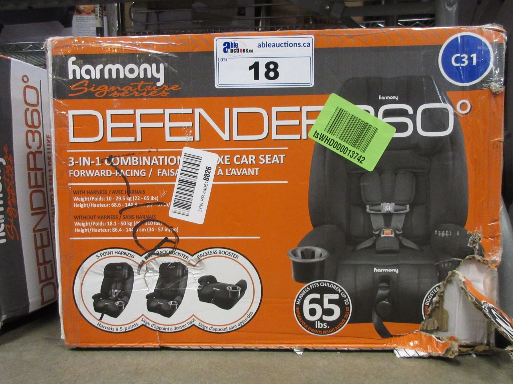 Image 1 HARMONY DEFENDER 360 3 IN COMBINATION DELUXE CAR SEAT