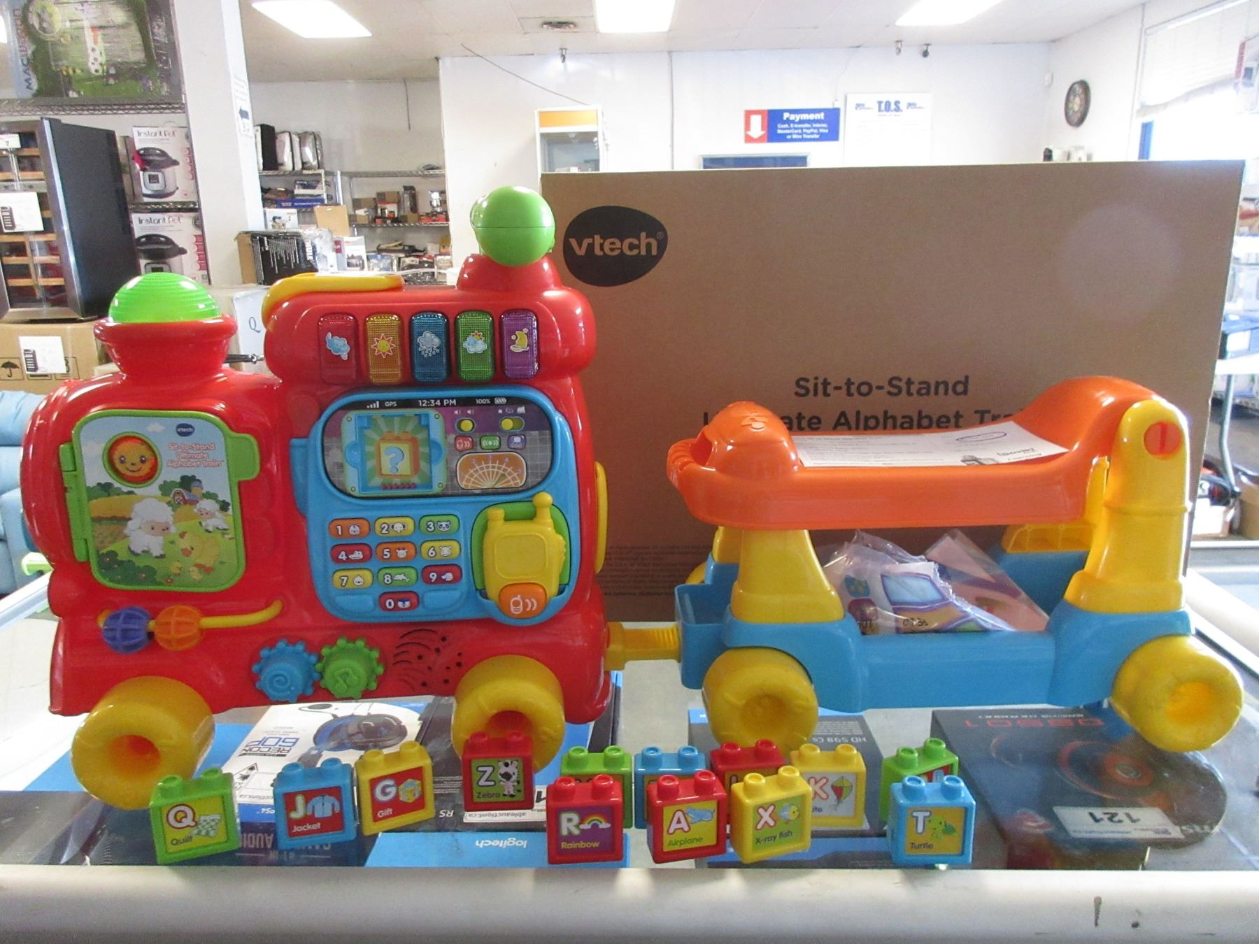 Two Vtech Sit To Stand Ultimate Alphabet Train Toys