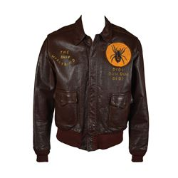 World War II USAAF 8th Air Force A-2 Flight Jacket with Unit Patch and Painted Decorations