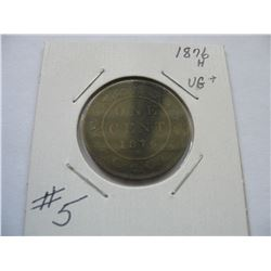 1876H Canadian Large Cent