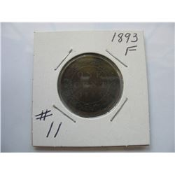 1893 Canadian Large Cent