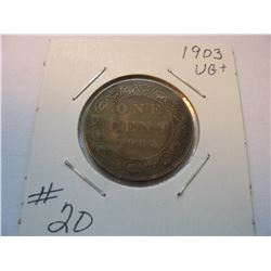 1903 Canadian Large Cent