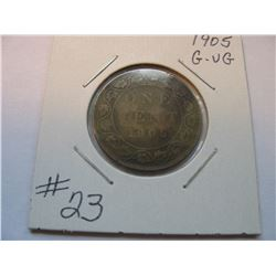 1905 Canadian Large Cent