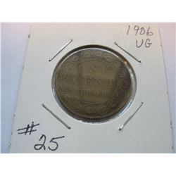 1906 Canadian Large Cent